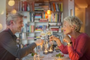couple out on a date after using CareCredit for cosmetic dental treatment